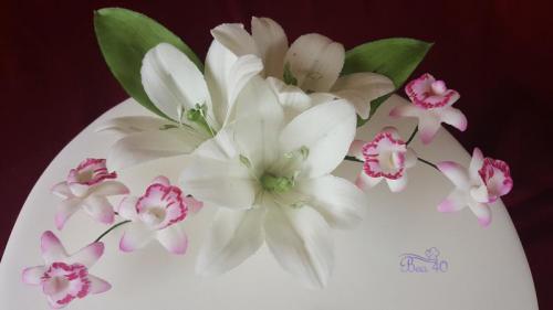 ľalie a orchidee