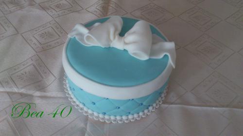 modrý darček