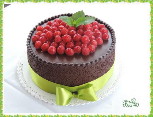 čokoládovo-malinová