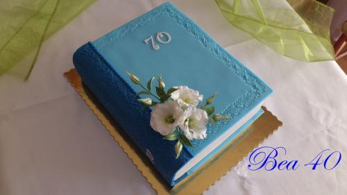 """Kniha """"70"""" modrá"""