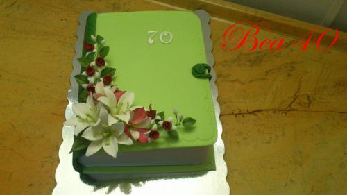 """Kniha """"70"""" zelená"""